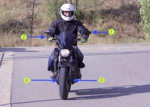 Como iniciar el giro en moto